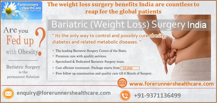 The Weight Loss Surgery Benefits India Are Countless To Reap For The